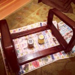 Stained and sealed navigator chair frame