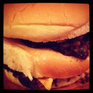 Black bean monster burger