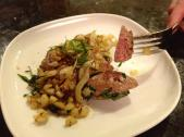 Rabbit liver sauteed with fennel and topped with crispy fried tarragon