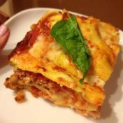 lasagna with fresh pasta made with Von Kroug eggs