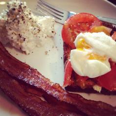 Our typical, scratch, urban farm breakfast