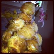 Croquembouche from scratch. Happy birthday to me.