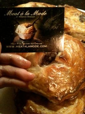 Golden venison meat pies