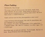 Time-honored, family recipe for traditional Plum Pudding