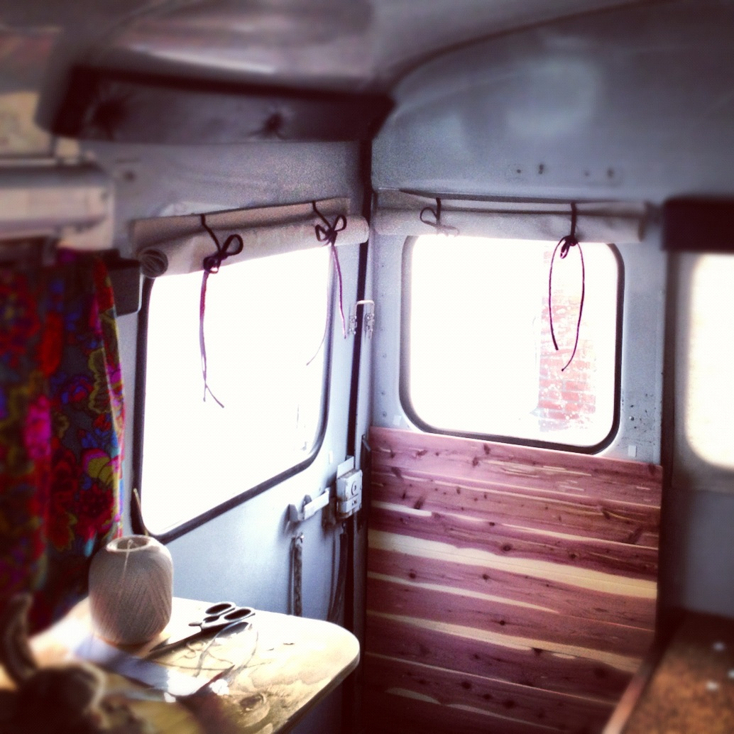Simple inexpensive roll up bus rv curtains free range quest