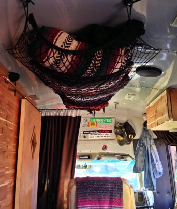 blanket storage hammock
