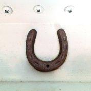 mini horseshoe over the front door