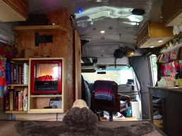 Interior of our tiny home on wheels!