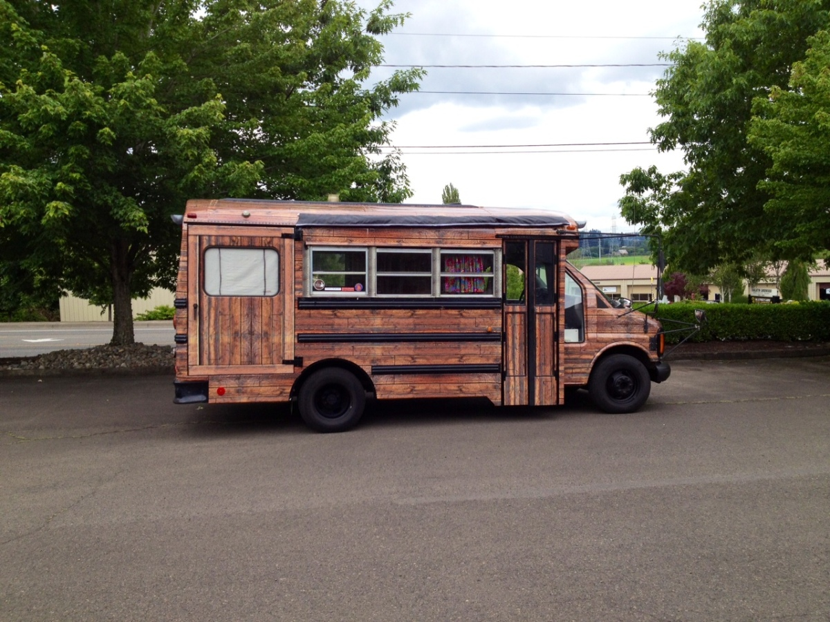 Thats A Wrap From School Bus To Cabin On Wheels  Free -2394