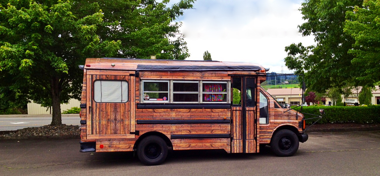 Wood wrap1 free range quest - The recreational vehicle turned cabin in the woods ...