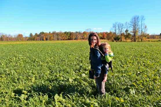 Kristin in her field