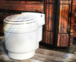 Our AMAZING Dry Flush toilet!