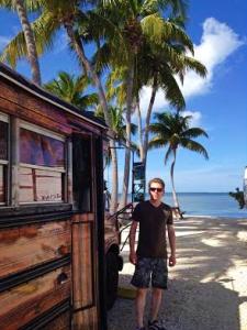 Dave near the salt farm in the Florida keys